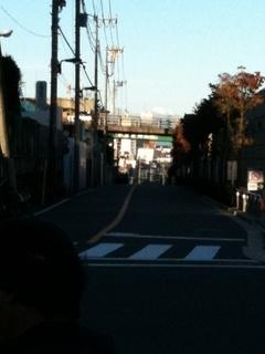 北千束3丁目からの富士山